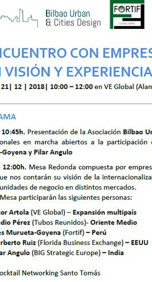 ENCUENTRO CON EMPRESARIOS VASCOS CON VISIÓN Y EXPERIENCIA INTERNACIONAL
