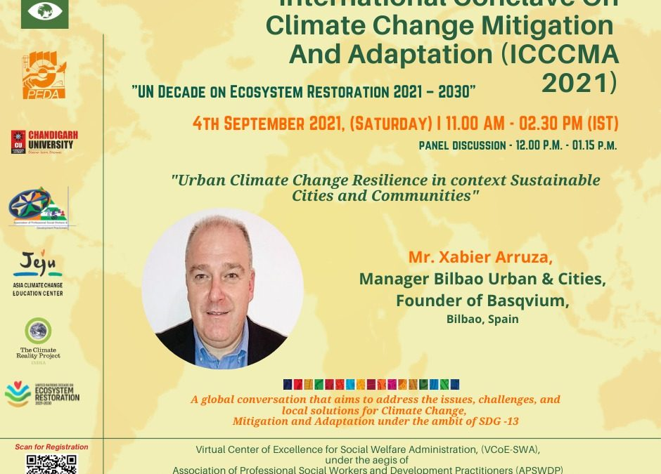 BILBAO URBAN & CITIES DESIGN PARTICIPA EN EL INTERNATIONAL CONCLAVE ON CLIMATE CHANGE MITIGATION AND ADAPTATION