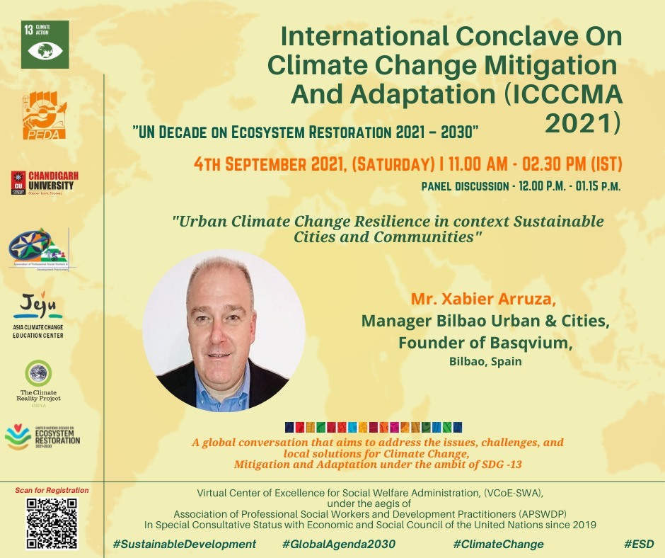 BILBAO URBAN & CITIES DESIGN PARTICIPATED ON THE INTERNATIONAL CONCLAVE ON CLIMATE CHANGE MITIGATION AND ADAPTATION